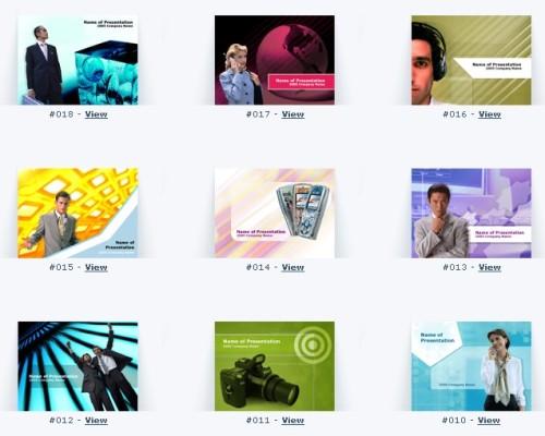 Esempi di template per Powerpoint